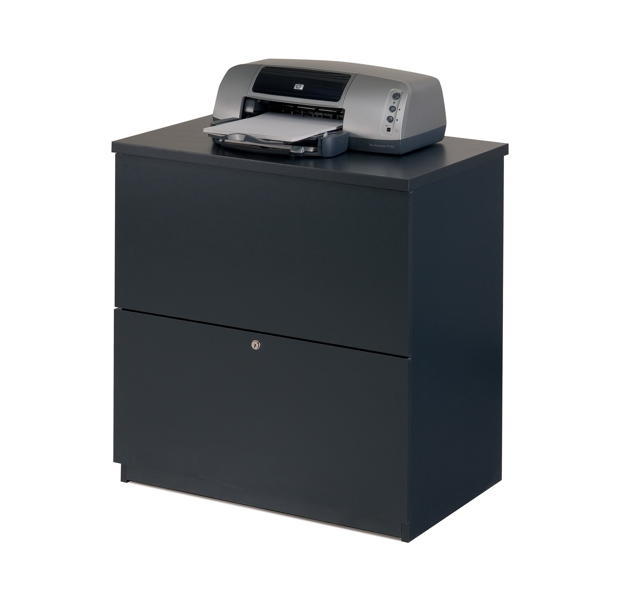 Premium Lateral File in Charcoal Finish with Lock
