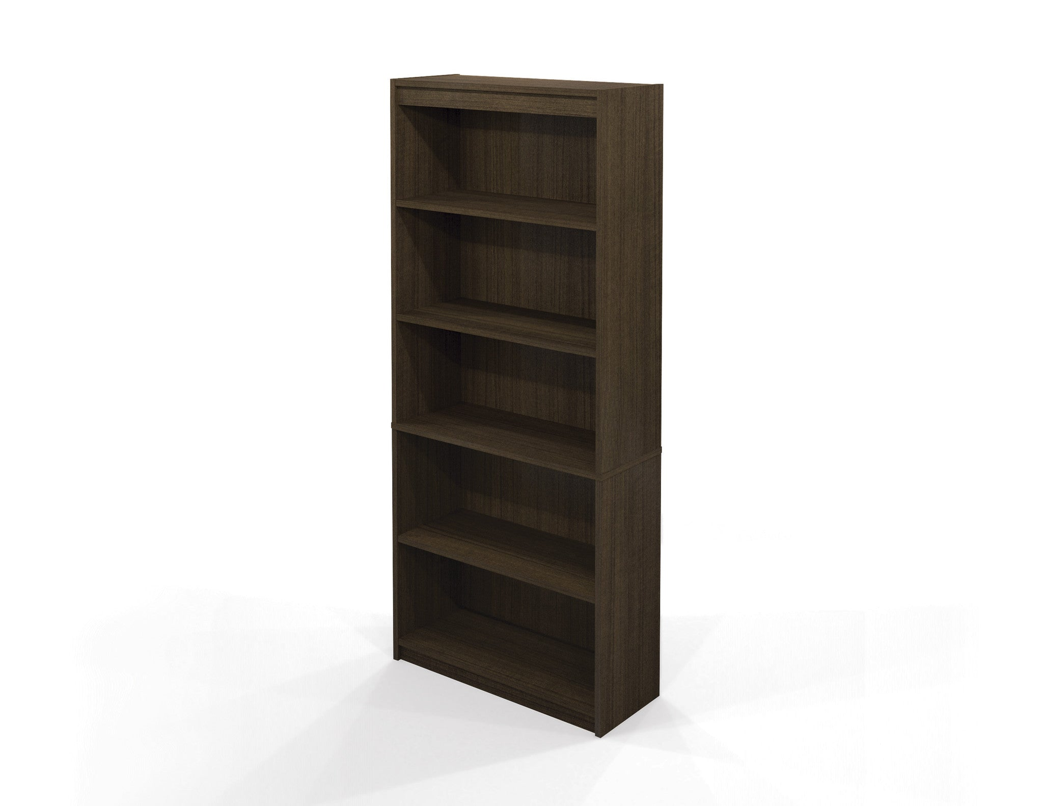 "Contemporary 72"" 5 Shelf Bookcase in Tuxedo"