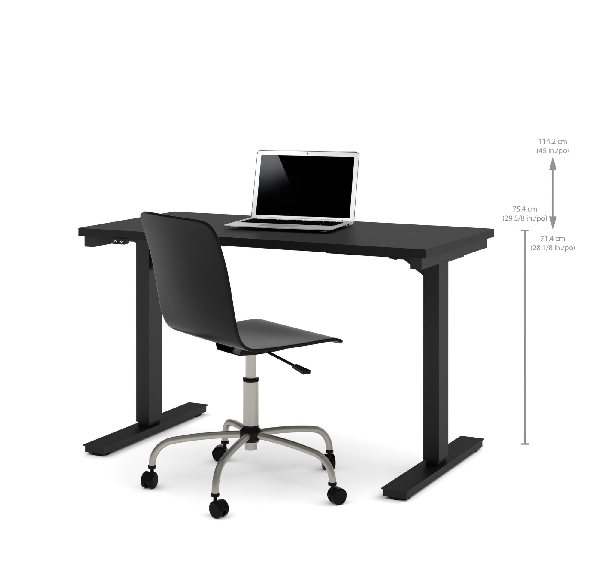 48 sit stand electric height adjustable office desk in for Motorized adjustable height desk