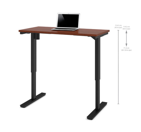 "48"" Sit-Stand Electric Height Adjustable Office Desk in Bordeaux (28"" - 45"" H)"