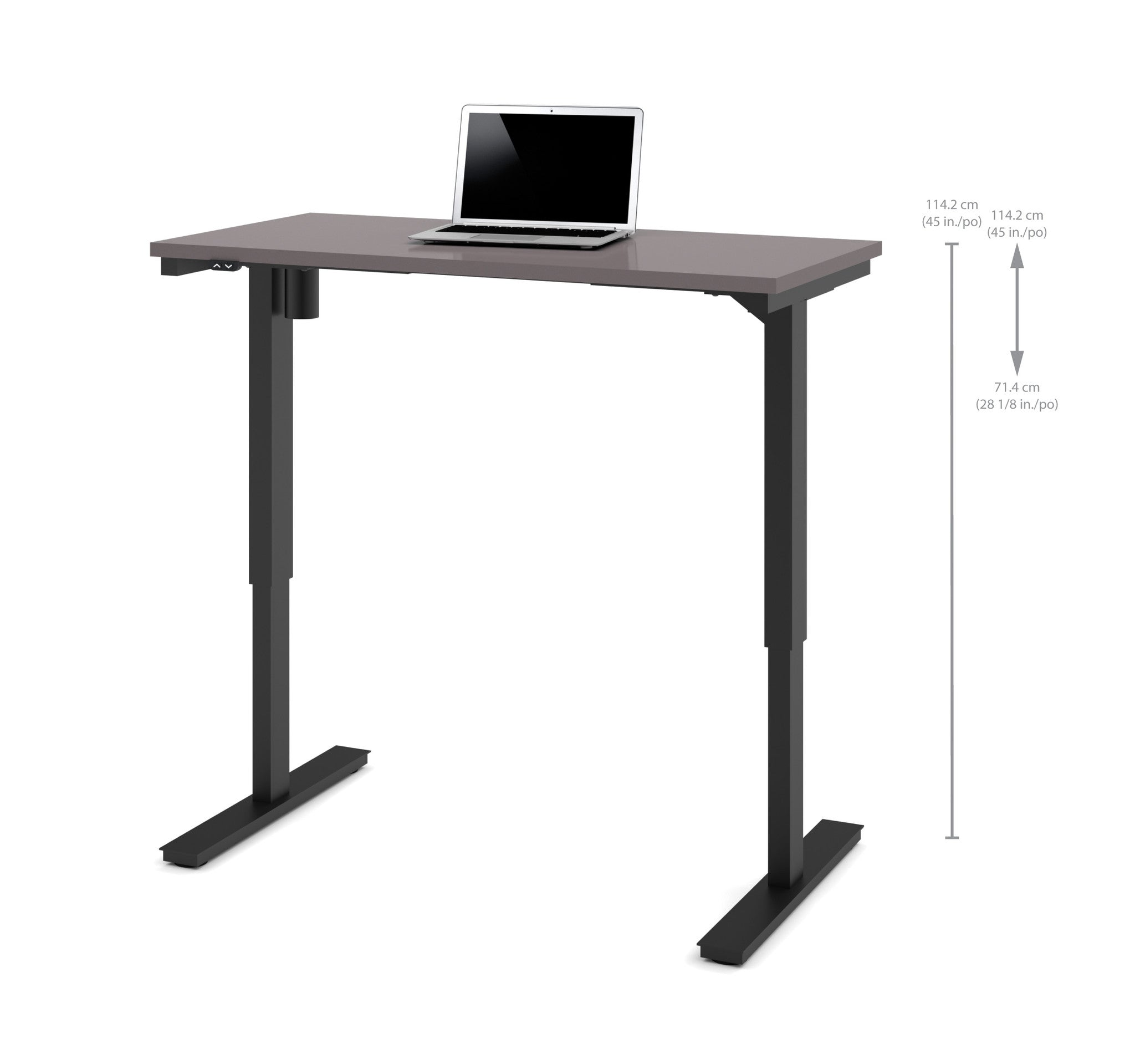 "48"" Sit-Stand Electric Height Adjustable Office Desk in Slate (28"" - 45"" H)"