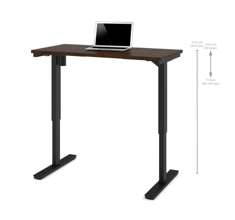 "48"" Sit-Stand Electric Height Adjustable Office Desk in Chocolate (28"" - 45"" H)"