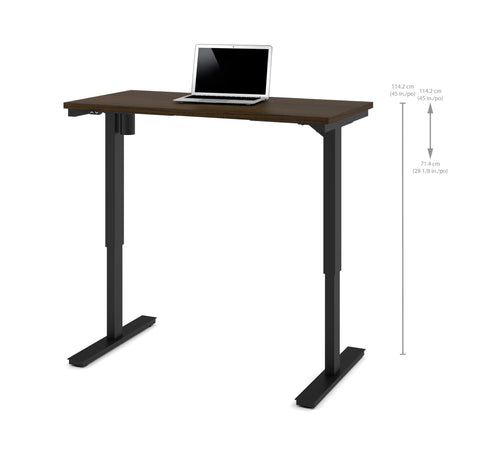 "48"" Sit-Stand Electric Height Adjustable Office Desk in Tuxedo (28"" - 45"" H)"