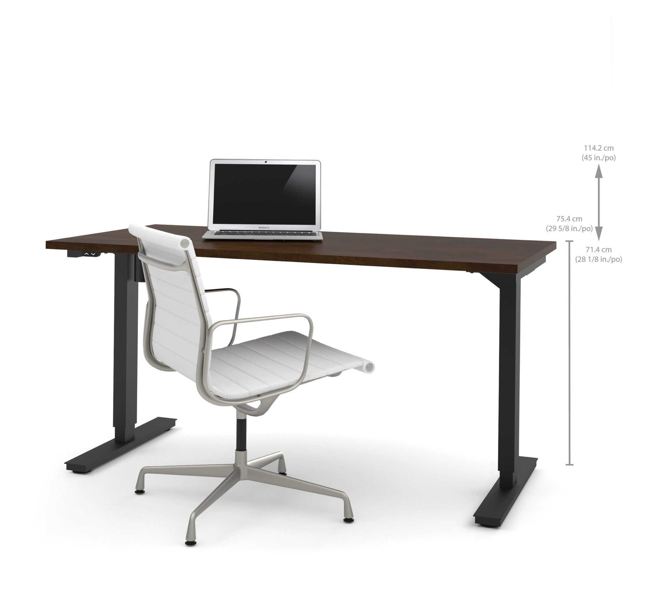 60 Quot Sit Stand Electric Height Adjustable Office Desk In