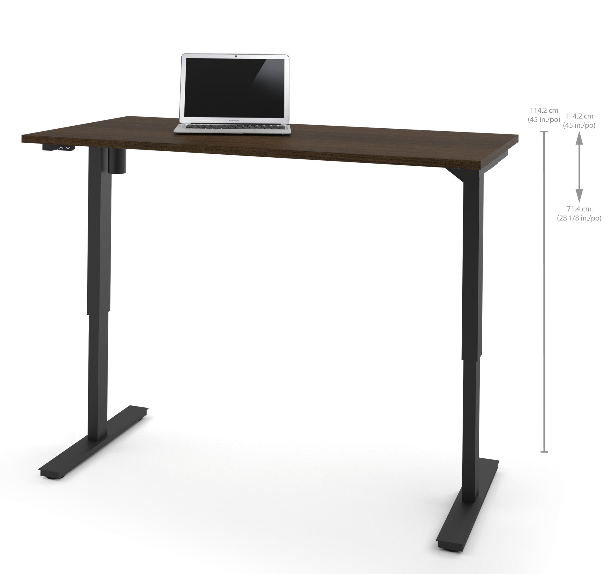 60 sit stand electric height adjustable office desk in for Motorized adjustable height desk