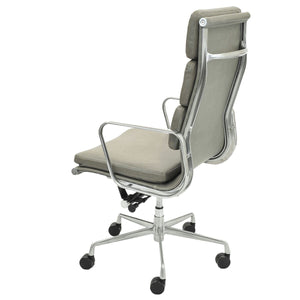 High-Back Padded Office Chair in Vintage Smoke