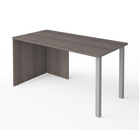 "Modern 60"" Office Desk in Bark Grey Finish"