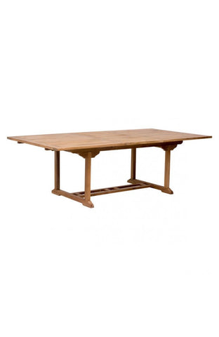 "71"" - 95"" Solid Teak Slatted Conference Table"
