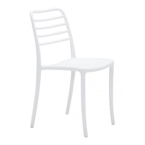 Plastic Guest or Conference Chair in White (Set of 2)