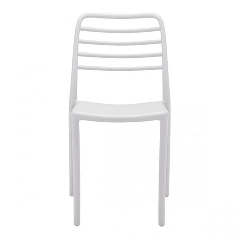 Plastic Guest or Conference Chair in Gray (Set of 2)