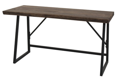 "55"" Gorgeous Office Desk w/ Trembesi Wood Top & Iron Base"