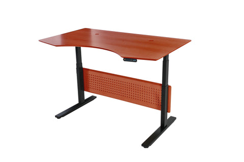 "Cherry 63"" Standing Desk with Motorized Height Adjustment"
