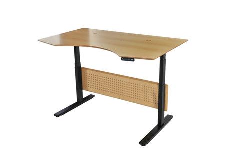 "Maple 63"" Standing Desk with Motorized Height Adjustment"