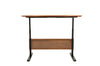 "Teak 63"" Standing Desk with Motorized Height Adjustment"