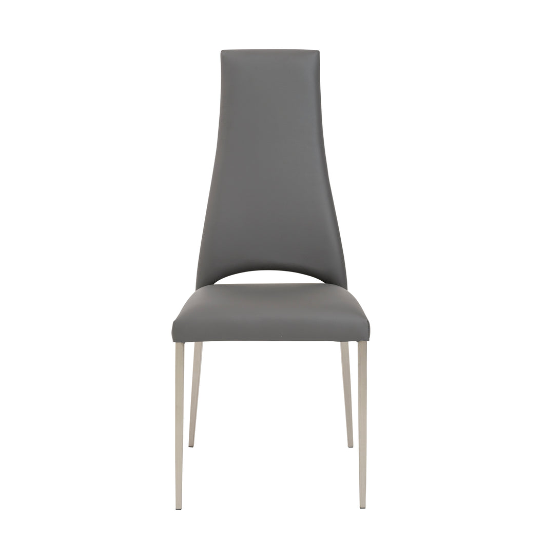 Elegant Gray Chimney-Style Guest or Conference Chair (Set of 4)