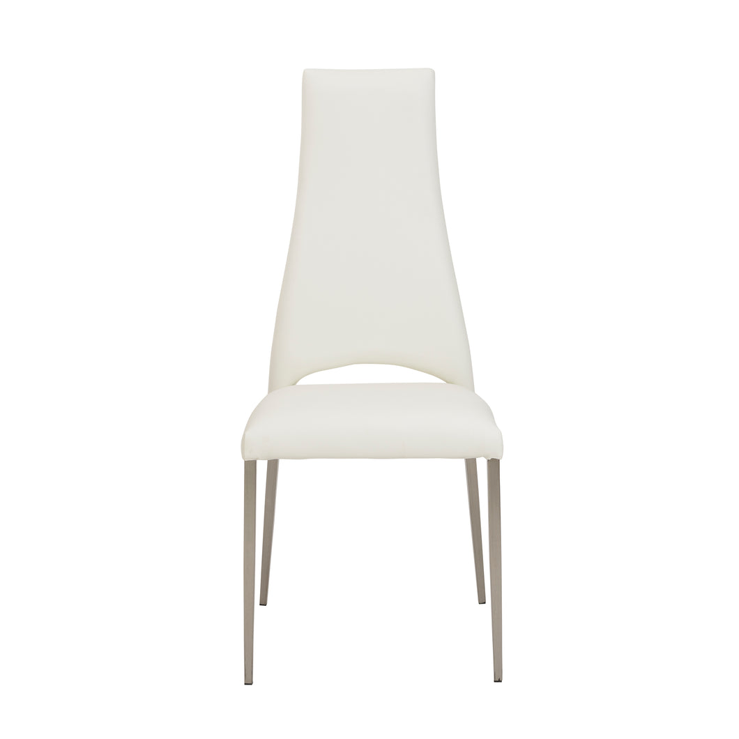 Elegant White Chimney-Style Guest or Conference Chair (Set of 4)