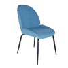 Classic Guest or Conference Chair in Blue (Set of 2)