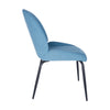 Set of 2 - Blue Guest or Conference Chairs with Elegant Design