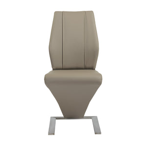 Modern Tan Leatherette Guest or Conference Chairs (Set of 2)
