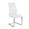 White Leatherette and Stainless Steel Guest or Conference Chair (Set of 2)