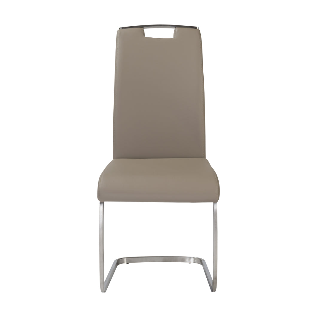 Practical Gray Leatherette Guest or Conference Chair (Set of 4)