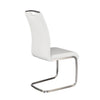 Practical White Leatherette Guest or Conference Chair (Set of 4)