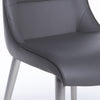 Charcoal Soft Leatherette Guest or Conference Chairs (Set of 2)