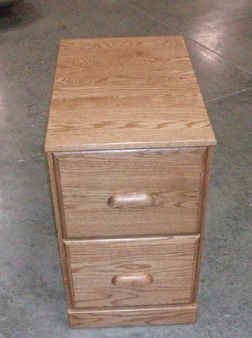 Solid Oak Handcrafted Vertical File Cabinet