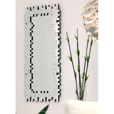 Bold Hanging Office Mirror w/ Puzzle Frame
