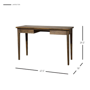 "Mindi Wood 47"" Office Desk w/ Coffee Glaze"