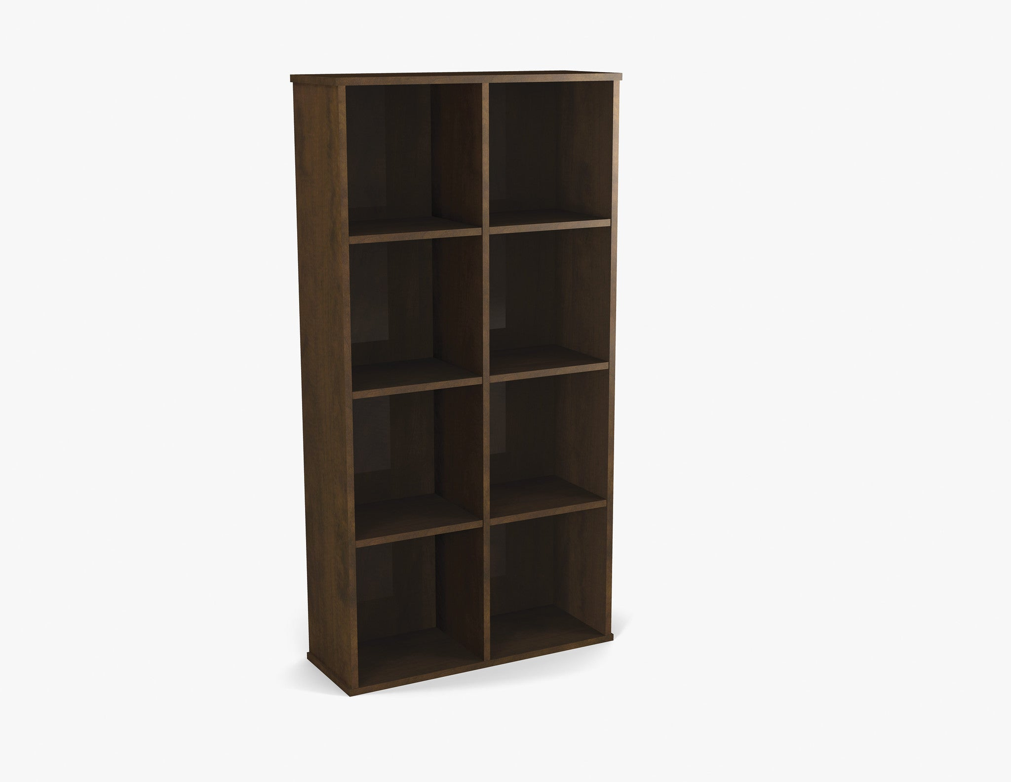 "Cubby Style 4 Shelf 63"" Tall Bookcase in Chocolate"