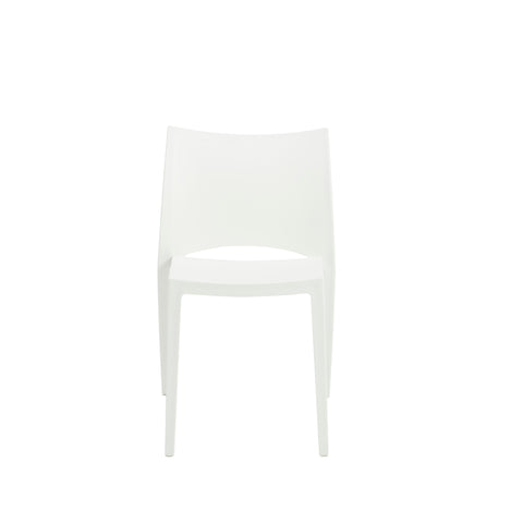 Stackable Conference or Guest Chairs in White (Set of 2)
