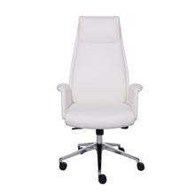 Load image into Gallery viewer, High-Backed Office Chair in White Leatherette