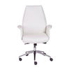 Low-Backed Office Chair in White Leatherette