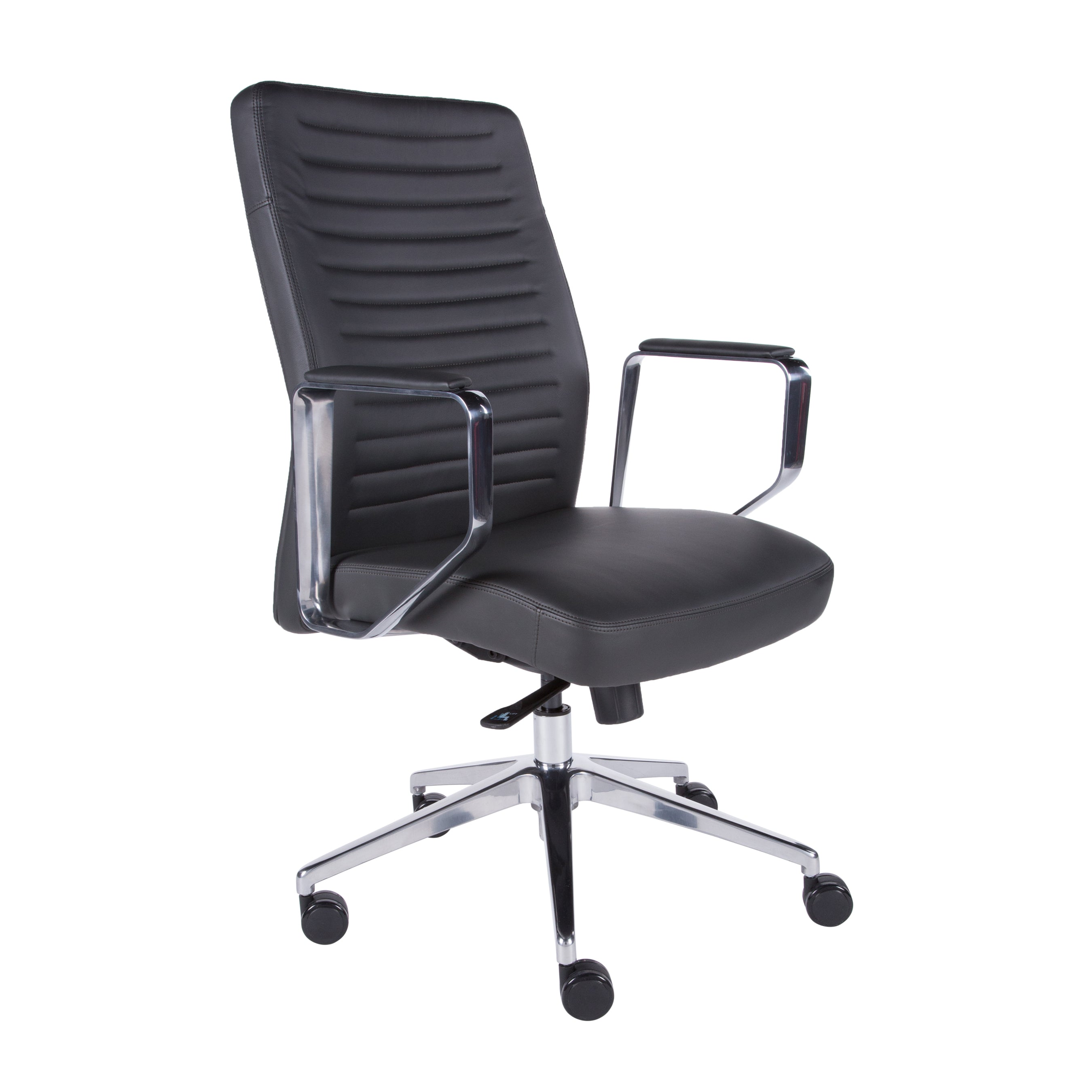 Dark Gray Padded Office Chair in Classic Design