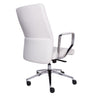 White Padded Office Chair in Classic Design