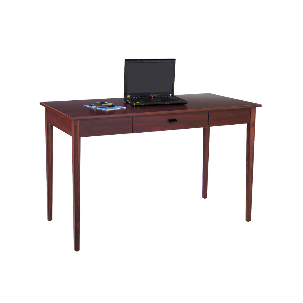 Mahogany Desk with Solid  Wood Legs and Drawer