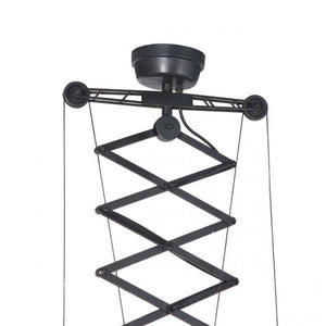 Functional Black Hanging Office Lamp w/ Scissor-Style Design