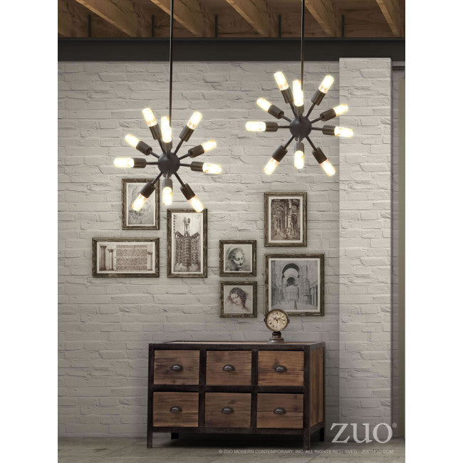Stylish Rust & Bare Bulb Office Ceiliing Light