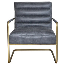 Load image into Gallery viewer, Comfortable Padded Office Chair in Vintage Midnight & Gold