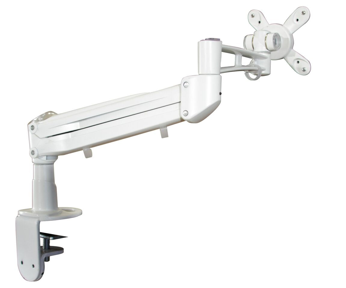 Ergonomic Monitor Arm in White