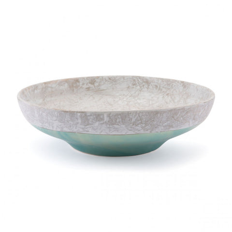 Simple Shallow Bowl in Grey & Teal