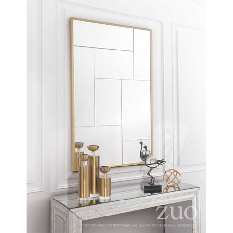 Eye-Catching Gold-Framed Multiple Mirrors