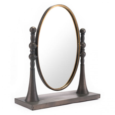Stunning Brown & Gold Desktop Mirror