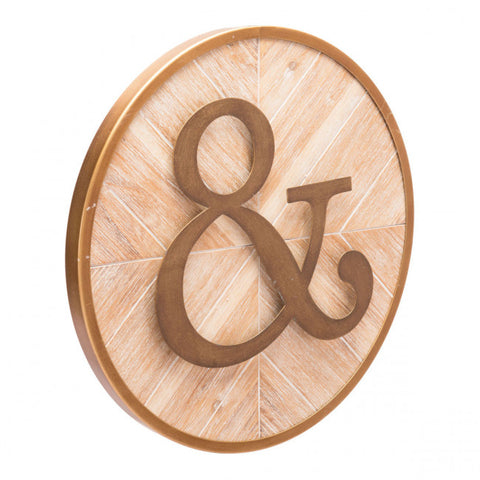 Ampersand Wall Hanging in Steel & Fir Wood