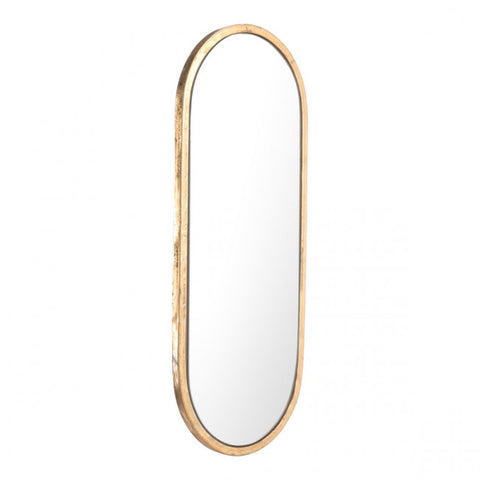Elegant Oval Gold-Framed Mirror