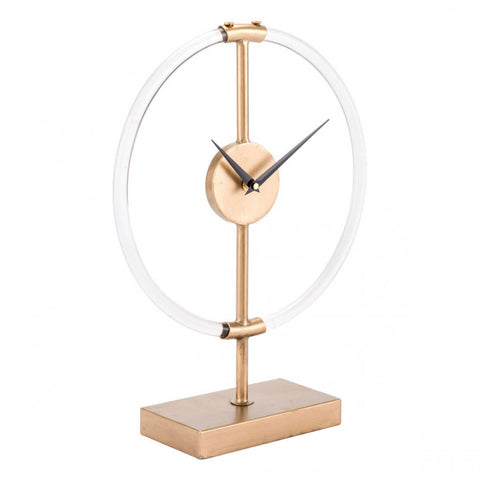 Sophisticated Clear & Gold Clock