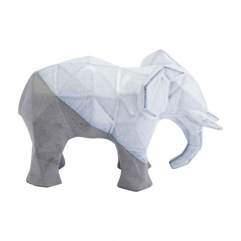 White & Grey Elephant w/ A Multi-Faceted Design