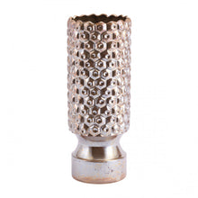 Load image into Gallery viewer, Small Gold Vase w/ Honeycomb Design