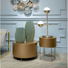 Load image into Gallery viewer, Elegant Mid-Century Brass Desk Lamp w/ Frosted Glass Spheres